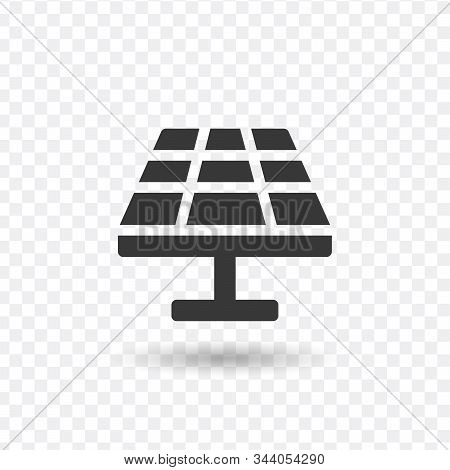 Solar Panel Solar Energy Icon. Stock Vector Illustration Isolated On White Background.