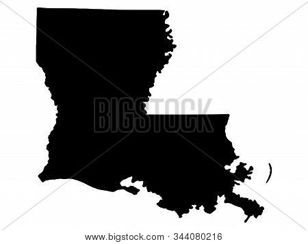 Map Silhouette Louisiana Us State Vector Illustration Eps 10