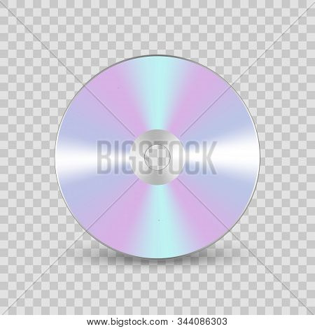 Cd Or Dvd Compact Disc. Realistic Vector Compact Disk.