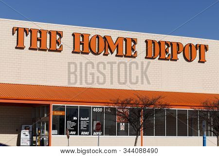 Indianapolis - Circa January 2020: Home Depot Location. Home Depot Is The Largest Home Improvement R