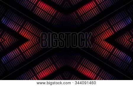 Empty Dark Abstract Background. Background Of An Empty Show Scene. Glow Of Neon Lights On An Empty S