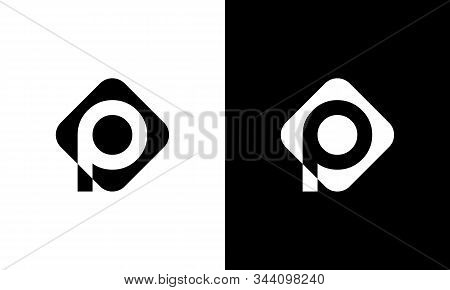 Initial Square Letter P Logo With Modern Typography Vector Template. Creative Abstract Letter P Logo