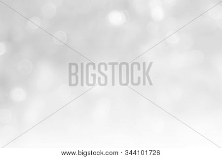 Gray And White Nature Blurred Color Glow Colorful Light Sparkling Summer. Valentine's Day Blurry Con