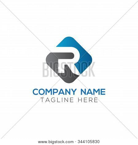 Initial Square Letter R Logo With Modern Typography Vector Template. Creative Abstract Letter R Logo