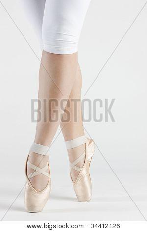 detail of ballet dancer''s feet