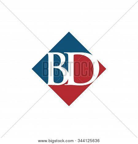 Initial Bd Rhombus Logo Vector Design Premium Design