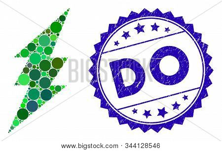 Mosaic Execute Icon And Grunge Stamp Watermark With Do Phrase. Mosaic Vector Is Designed With Execut