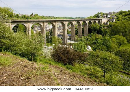 road viaduct, Dinan, Brittany, France