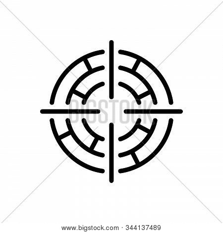 Black Line Icon For Focus Target Goal Objective Viewfinder