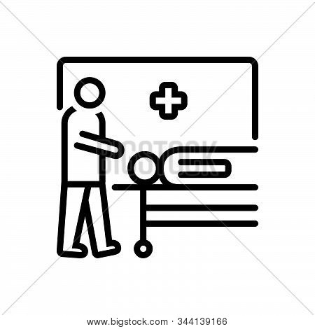 Black Line Icon For Casualties Casualty Wounded Captured  Injured