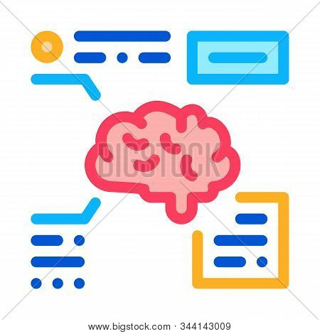 Brain Feature Icon Vector. Outline Brain Feature Sign. Isolated Contour Symbol Illustration