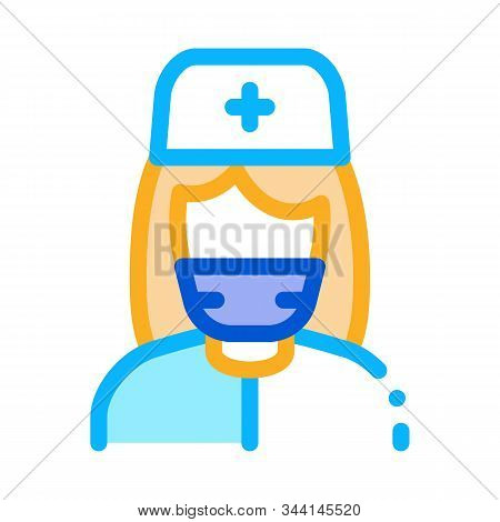 Nurse Paramedic Icon Vector. Outline Nurse Paramedic Sign. Isolated Contour Symbol Illustration