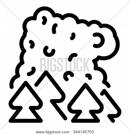 Forest Wildfire Icon. Outline Forest Wildfire Vector Icon For Web Design Isolated On White Backgroun