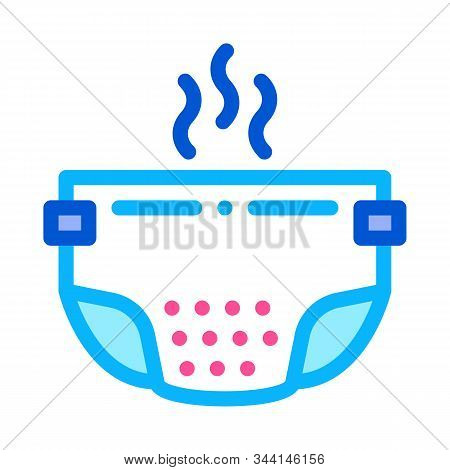 Smelly Diaper Icon Vector. Outline Smelly Diaper Sign. Isolated Contour Symbol Illustration
