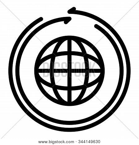Global Franchise License Icon. Outline Global Franchise License Vector Icon For Web Design Isolated