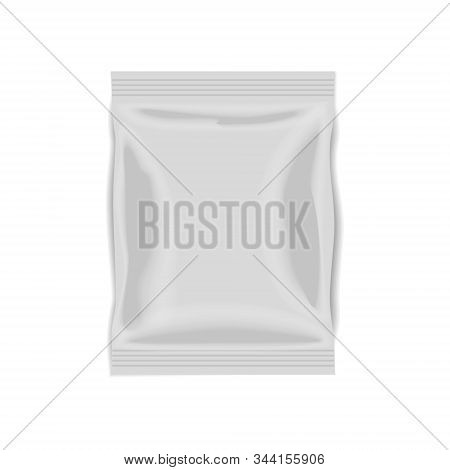 White Foil Doy Pillow Pack Isolated On A White Background