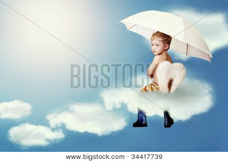 Little Angel  Sitting On The Cloud