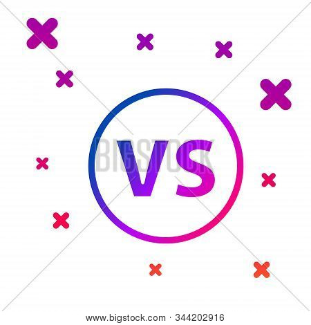 Color Vs Versus Battle Icon Isolated On White Background. Competition Vs Match Game, Martial Battle