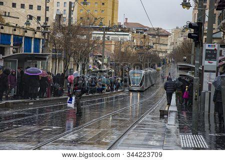 Jerusalem Light Rail Tram Train . Jerusalem Is The Most Visited City By Tourists In Israel Jerusalem