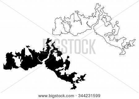 Istanbul City (republic Of Turkey) Map Vector Illustration, Scribble Sketch City Of Istanbul Map