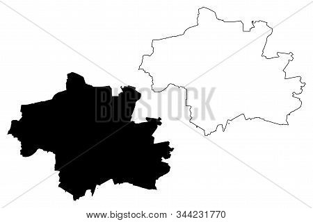 Munich City (federal Republic Of Germany) Map Vector Illustration, Scribble Sketch City Of Munchen M