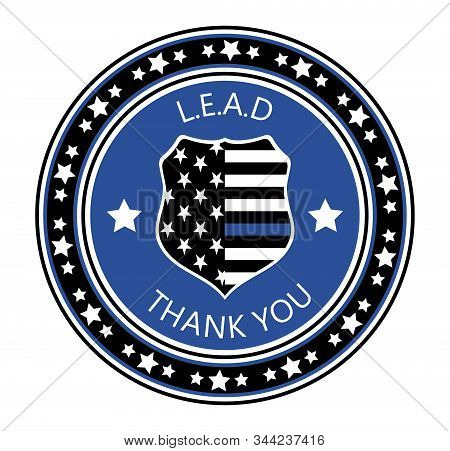 Law Enforcement Appreciation Day Is Celebreted In Usa On January 9th Each Year. Police Shild With Us