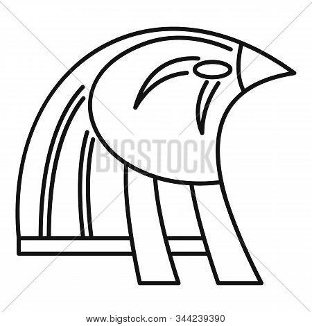 Egypt Falcon Head Icon. Outline Egypt Falcon Head Vector Icon For Web Design Isolated On White Backg
