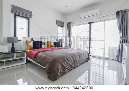 Modern Bedroom Interior Decoration.modern Master Bedroom In The Morning.