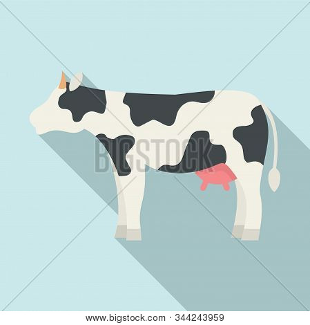 Diary Cow Icon. Flat Illustration Of Diary Cow Vector Icon For Web Design
