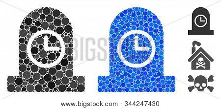 Expired Grave Mosaic Of Round Dots In Variable Sizes And Color Hues, Based On Expired Grave Icon. Ve