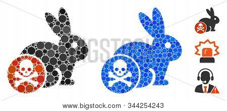 Rabbit Toxin Composition Of Circle Elements In Different Sizes And Color Tinges, Based On Rabbit Tox