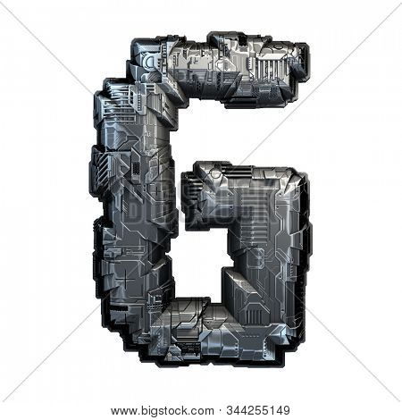 Capital letter G made of metal isolated on white background. 3d rendering