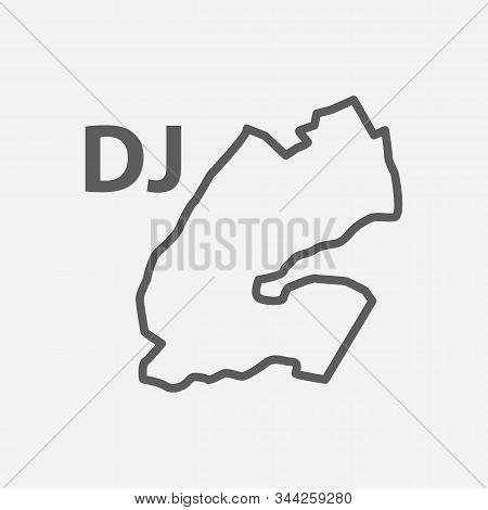 Djibouti Icon Line Symbol. Isolated Vector Illustration Of Icon Sign Concept For Your Web Site Mobil