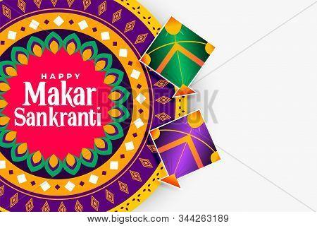 Decorative Happy Makar Sankranti Indian Festival Background