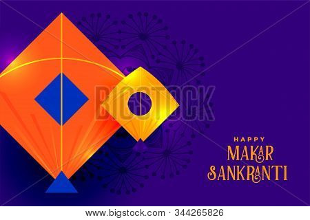 Indian Kites Festival Makar Sankranti Background Design