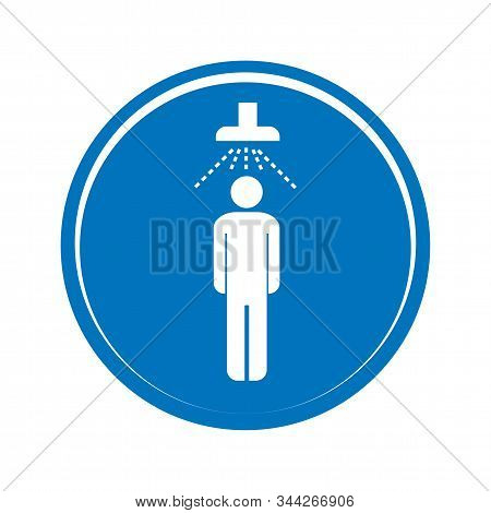 Shower Icon Vector. Man Taking Shower. Vector Shower Web Icon.