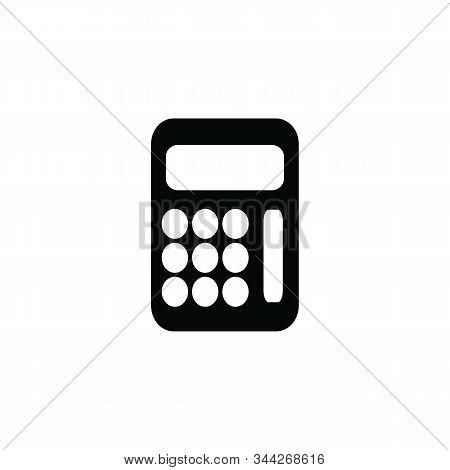 Calculator Icon Isolated Black On White Background, Calculator Icon Vector Flat Modern, Calculator I