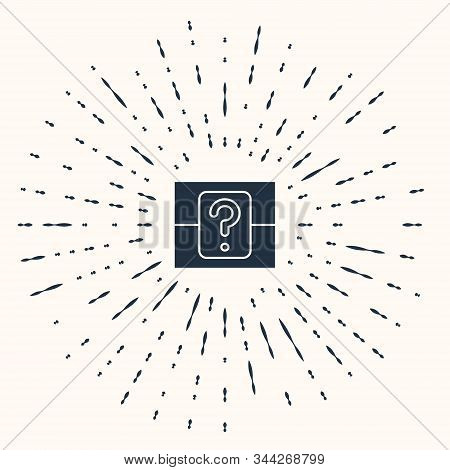 Grey Mystery Box Or Random Loot Box For Games Icon Isolated On Beige Background. Question Box. Abstr