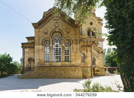 Facade Of The Stone Church Of The Greek Community Of St. Elijah, Built In 1911-1918 By The City Arch