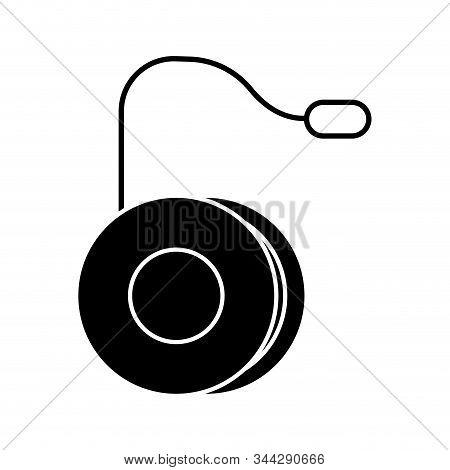 Isolated Pink Yo-yo Icon. Children Toy - Vector Illustration Design