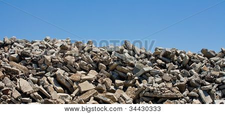 Broken Concrete Stockpile