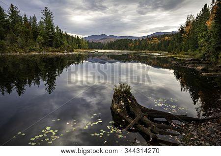 Autumn Time At Labier Flow Adirondacks New York