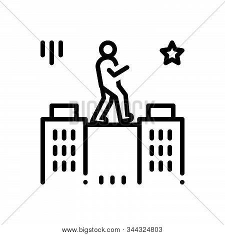 Black Line Icon For Charisma Talent Genius Brilliance Aptitude