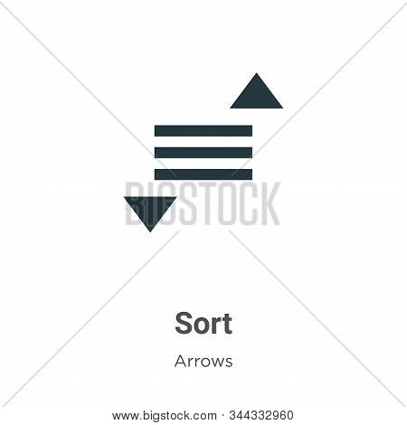 Sort icon isolated on white background from arrows collection. Sort icon trendy and modern Sort symb
