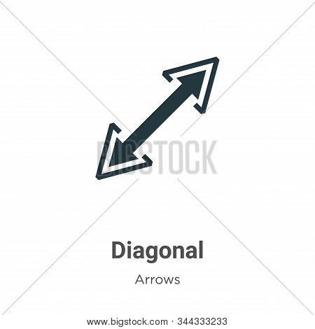 Diagonal icon isolated on white background from arrows collection. Diagonal icon trendy and modern D