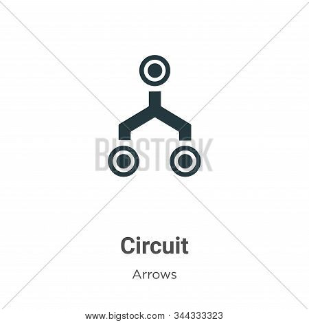 Circuit icon isolated on white background from arrows collection. Circuit icon trendy and modern Cir