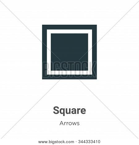 Square icon isolated on white background from arrows collection. Square icon trendy and modern Squar