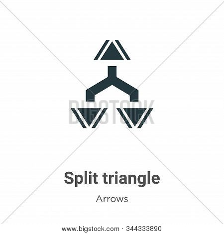 Split triangle icon isolated on white background from arrows collection. Split triangle icon trendy