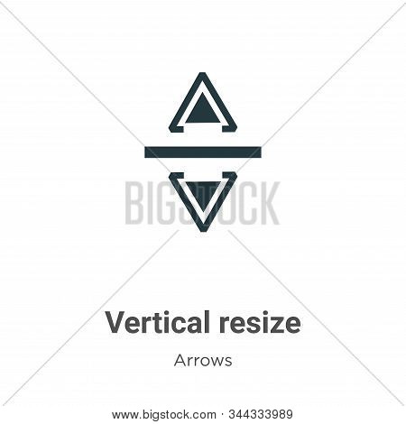 Vertical Resize Vector Icon On White Background. Flat Vector Vertical Resize Icon Symbol Sign From M