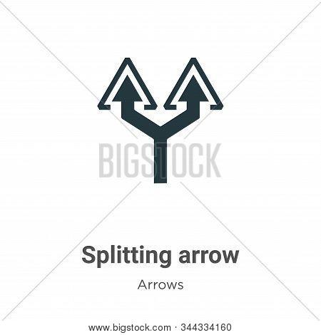Splitting arrow icon isolated on white background from arrows collection. Splitting arrow icon trend
